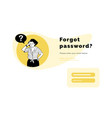 pensive young girl thinks remembering her password vector image