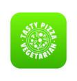 pizza vegetarian icon green vector image vector image