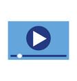 player video multimedia digital web vector image