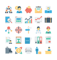 Project Management Colored Icons 4 vector image vector image
