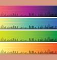 rio de janeiro multiple color gradient skyline vector image