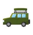 safari vehicle vector image
