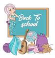 school back mermaid autumn sea underwater vector image vector image