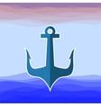 Sea Metal Anchor Silhouette vector image vector image