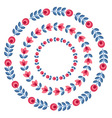 Set of design elements - round floral frames vector image vector image