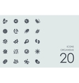 Set of organisms icons vector image vector image