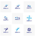 set of sport symbol design fitness people icon vector image vector image