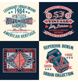 set of tee shirt print design vector image vector image