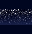 snow background blue sky at night christmas vector image