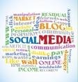 Social Media Word vector image