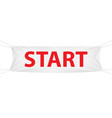 start white textile banner template vector image vector image