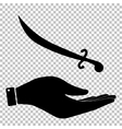 Sword sign Flat style icon vector image vector image