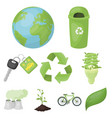 the ecology of the earth the problems of ecology vector image vector image