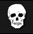 the stylized human skull vector image vector image