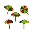 umbrella beach design template vector image