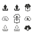 Upload icon set vector image vector image