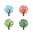 weather trees forecast vector image vector image