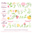 wedding design hand drawn elements set vector image vector image