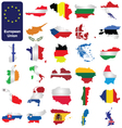 European Union Countries vector image
