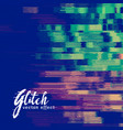 glitch signal error background vector image