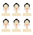 Massage lines on woman face vector image