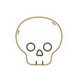 isolated skull design vector image