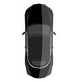 Luxury car top view vector image