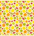 seamless pattern of colorful autumn leaves vector image