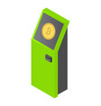 atm icon isometric style vector image