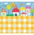 Background for kids with town and pattern - funny vector image vector image