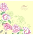 Background with peonies and pink rose-01 vector image vector image