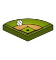 baseball diamond isolated icon vector image vector image