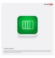 battery icon green web button vector image