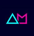 blue pink colorful alphabet letter logo vector image vector image