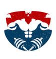 bodybuilding training symbol vector image vector image