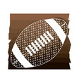 brown background with football ball with white vector image vector image