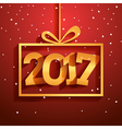 Contemporary modern 2017 new year card Holiday vector image vector image