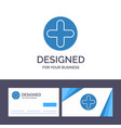 creative business card and logo template plus vector image