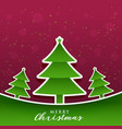 creative paper origami style christmas tree design vector image vector image