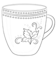 cup with a pattern contour vector image
