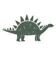 cute cartoon dinosaur outline vector image