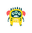 cute yellow cartoon monster fabulous incredible vector image