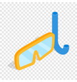 diving mask isometric icon vector image vector image
