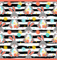 easter bunny pattern seamless vector image