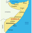 Federal Republic of Somalia - map vector image vector image