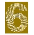 Fingerprint Alphabet No 6 vector image vector image