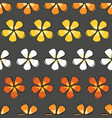 flower drama colorful blossoms on a gray vector image vector image