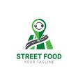 food finder app logo design template vector image