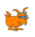 funny cartoon toothy rabbit predator vector image