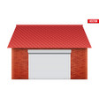 garage with roller shutter system vector image